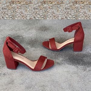 Cake-S Rust Brown Ankle Strap Heel Sandal Size 10